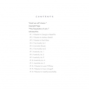 STREET POEMS, Table of Contents