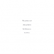 LOOK, Henry David Thoreau quote