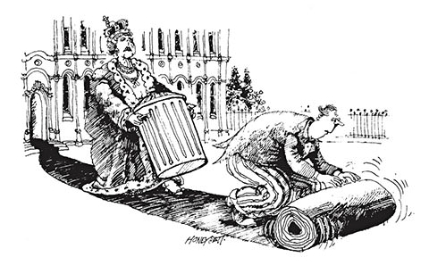 A Martin Honeysett cartoon for Private Eye.